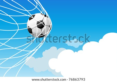 Soccer background with space for text - stock vector