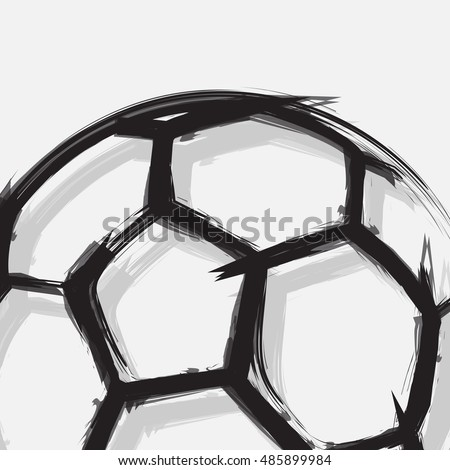 Soccer ball abstract background