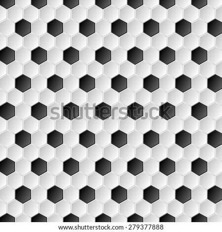 Soccer ball abstract texture background. Vector design - stock vector