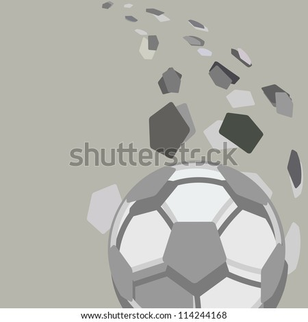 Soccer ball abstract vector illustration. - stock vector