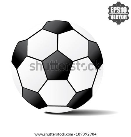 soccer ball and football ball isolated on white - vector. - stock vector