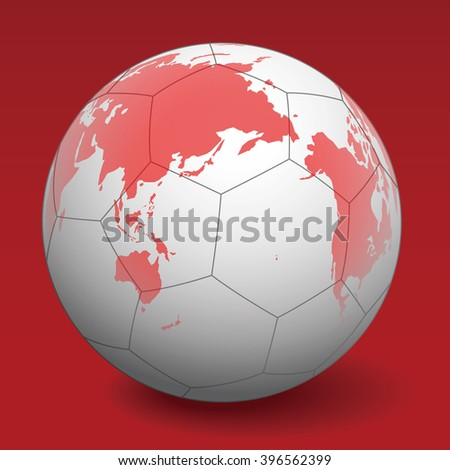 Soccer ball world map vector illustration vector de stock396562399 soccer ball and world map vector illustration gumiabroncs Gallery