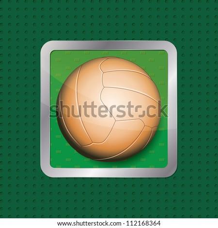 Soccer ball app icon - stock vector