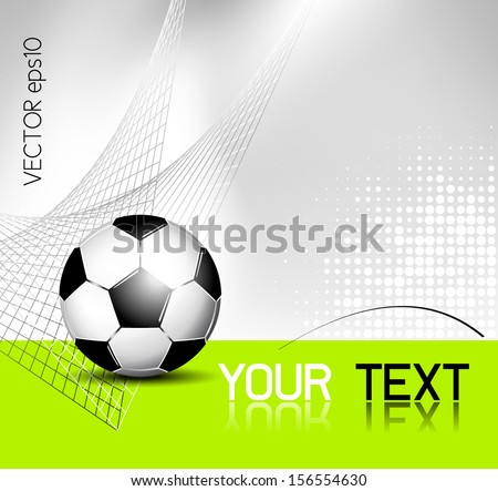 Soccer ball background with abstract net texture - stock vector