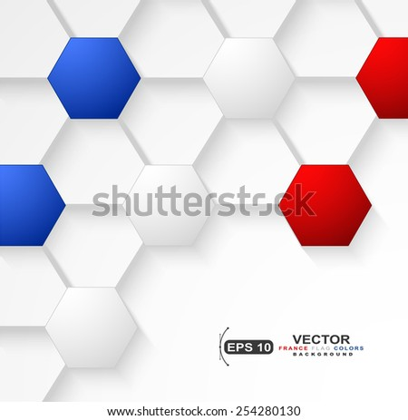 Soccer ball background with France flag colors - stock vector