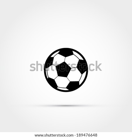Soccer ball icon - stock vector