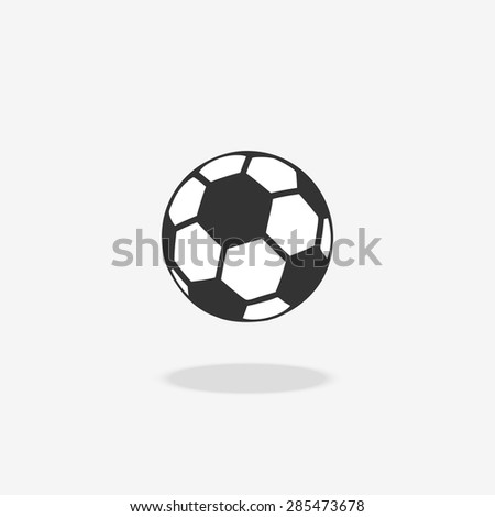 Soccer ball icon. Isolated object symbol, play football, vector illustration - stock vector