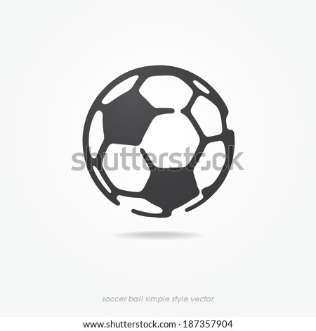 soccer ball icon or sign, vector illustration  - stock vector