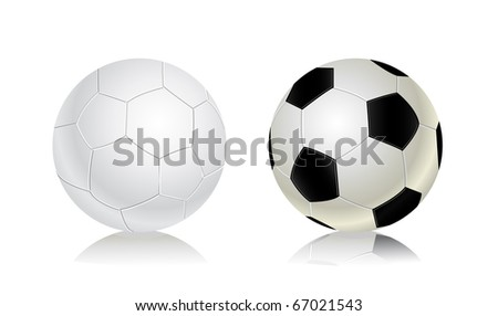 soccer ball icon set. Football vector illustration - stock vector