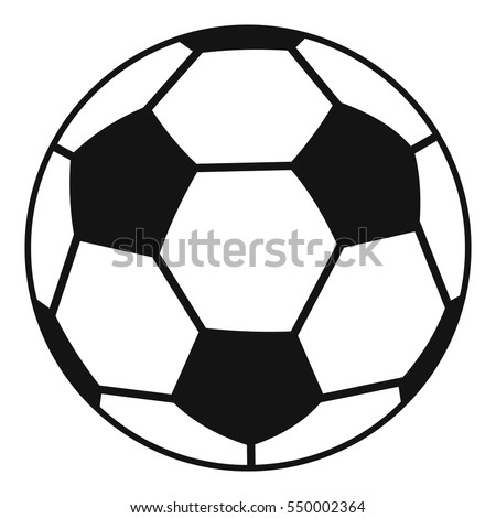 soccer ball icon flat illustration soccer stock vector 550003618