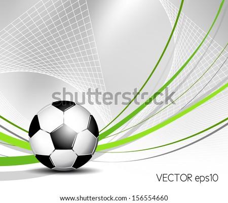 Soccer ball in net - stock vector