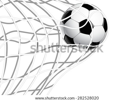 Soccer Ball in net - illustration