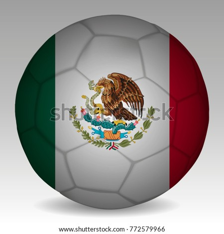 soccer ball colors mexico flag vector stock vector 772579966