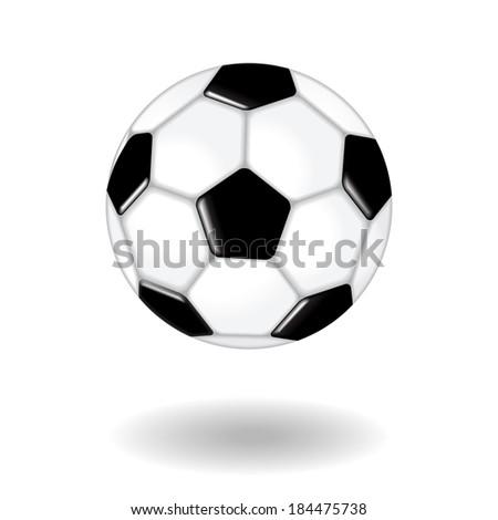 Soccer Ball Isolated On White - stock vector