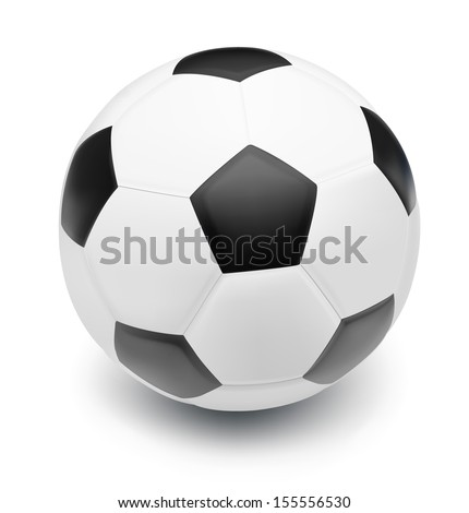 Soccer ball isolated on white background. - stock vector