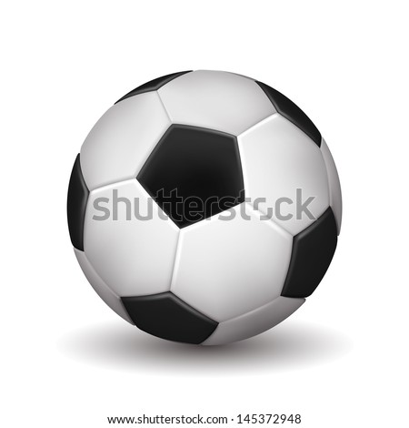 Soccer ball isolated on white background. Vector illustration - stock vector