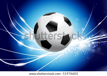Soccer Ball on Abstract Modern Light Background Original Illustration