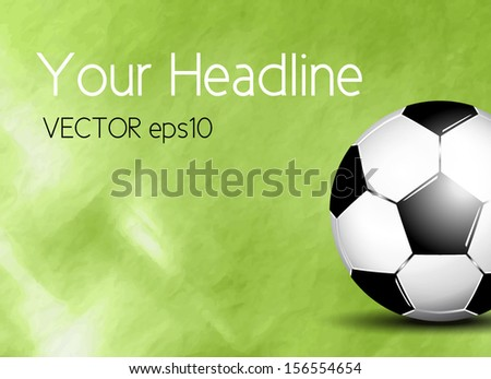 Soccer ball on field - stock vector