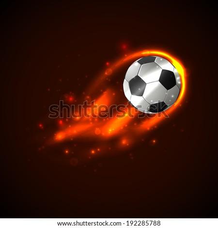 Soccer ball on fire. Vector - stock vector