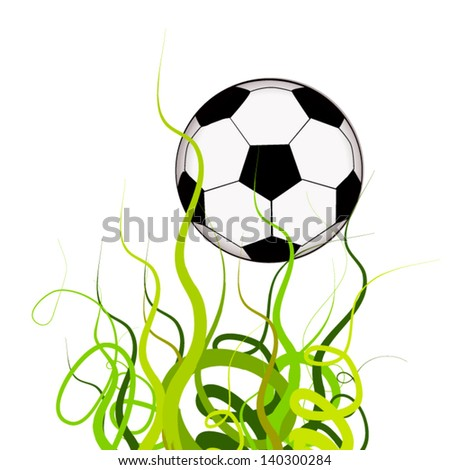 Soccer ball on the grass abstraction