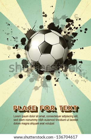 soccer ball on vintage background ep10