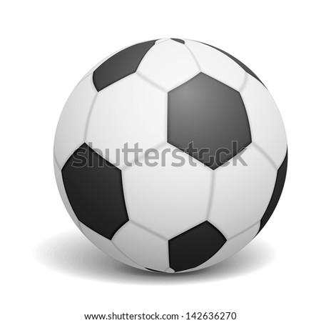 Soccer ball on white backgrond, vector eps10 illustration - stock vector