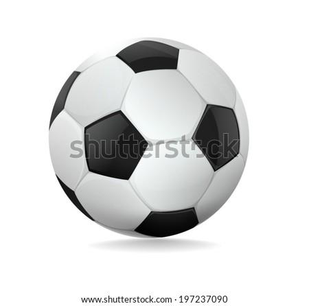 Soccer ball on white background. Vector illustration. - stock vector