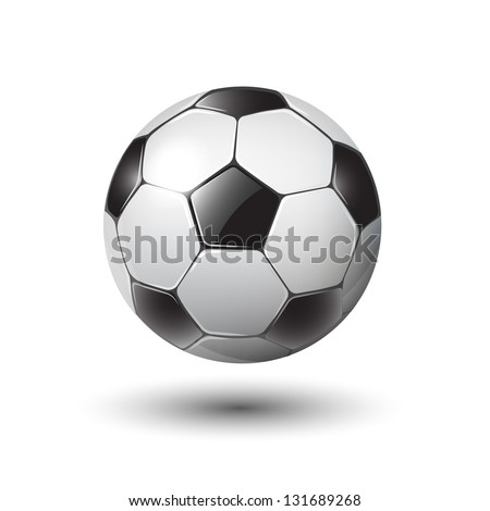 soccer ball on white eps10 illustration - stock vector