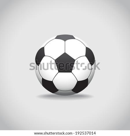 Soccer Ball, realistic illustration - stock vector