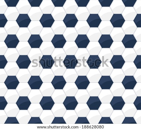 Soccer ball seamless pattern. Football background. - stock vector