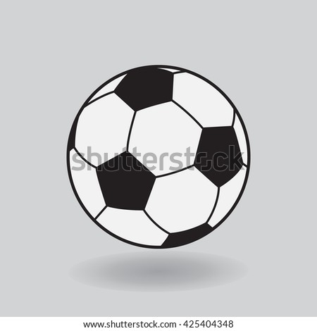 Soccer ball. Soccer ball  2016. Soccer icon. Soccer banner, soccer sign, soccer symbol. Soccer ball icon on grey background. Soccer template. Football icon. Vector Illustration. - stock vector