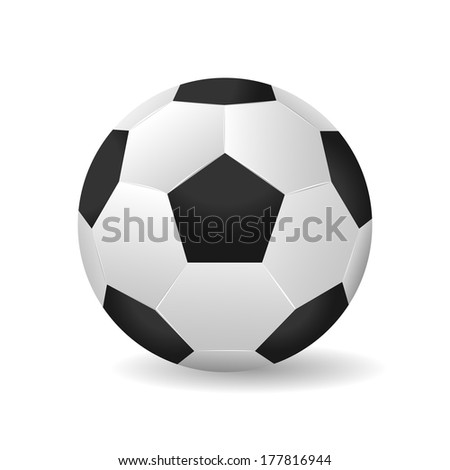 Soccer ball vector illustration isolated - stock vector