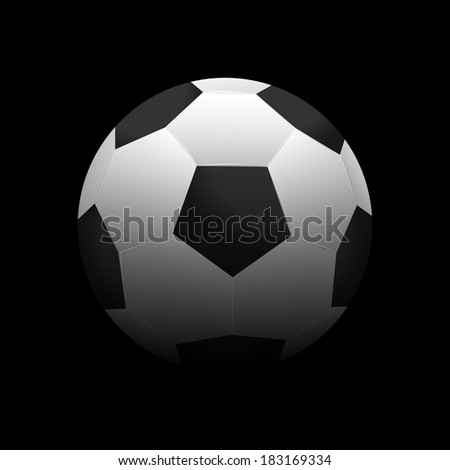 Soccer ball vector illustration on a dark background - stock vector