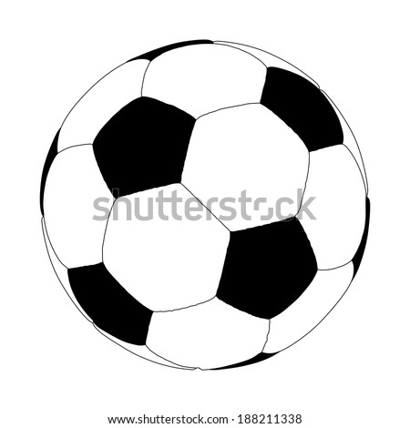 soccer ball vector isolated on white background.