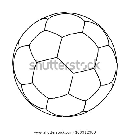 Stock vector soccer ball vector isolated on white background handball