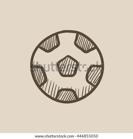 Soccer ball vector sketch icon isolated on background. Hand drawn Soccer ball icon. Soccer ball sketch icon for infographic, website or app. - stock vector
