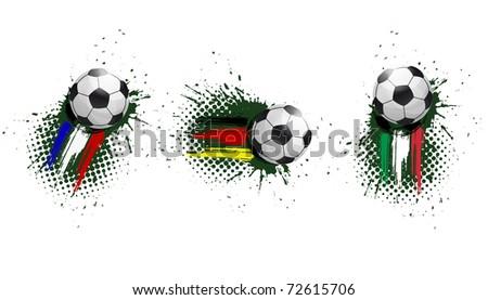 soccer banner - stock vector