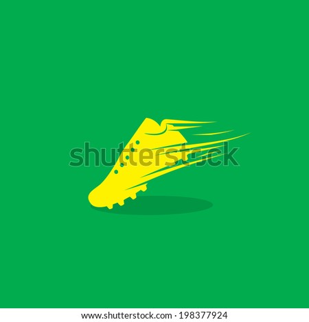 Soccer boot symbol - vector illustration - stock vector