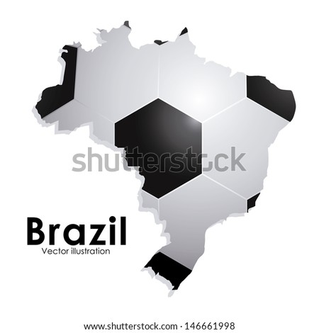 soccer brazilian over white background vector illustration  - stock vector