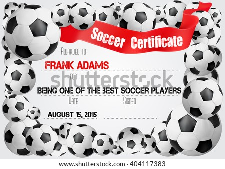 Football Certificate Stock Images, Royalty-Free Images & Vectors