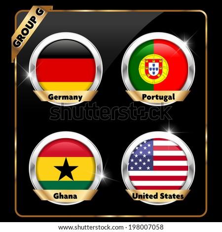 soccer championship, football group G - vector eps10 - stock vector