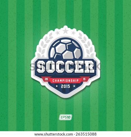 Soccer championship logo - stock vector