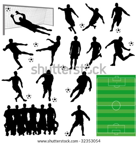 soccer collection - stock vector
