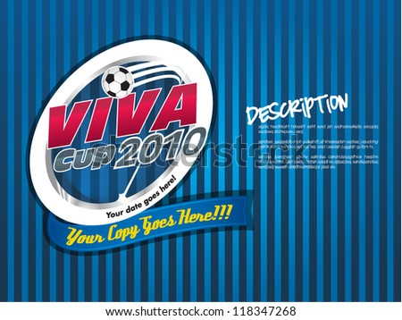 Soccer Cup Championship emblem - stock vector