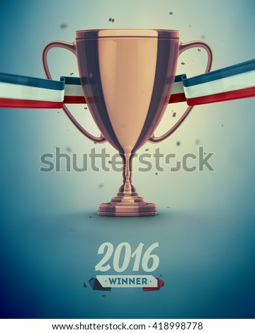Soccer cup, football championship, eps 10 - stock vector