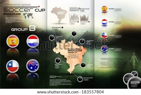 Soccer cup group B - stock vector