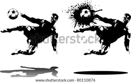 soccer design element; black background (vector-illustration); - stock vector