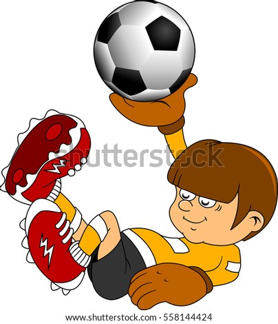 soccer design element, green  background (vector-illustration)