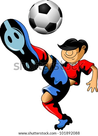 soccer design element; white background (vector-illustration);