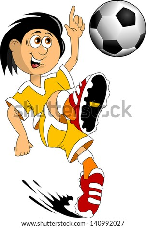 soccer design element; white background, vector-illustration